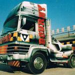 Décoration de camion de cascadeur à l'aérographe