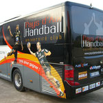 Bus Hand ball club Aix en Provence (Maquette Icone com)