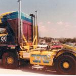Décoration de camion de course à l'aérographe