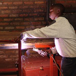 A former street child learning to weld – how wonderful!
