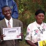 A former street child, now a qualified bricklayer. His mother was unable to feed him – thanks to the Centre Intiganda his life has taken a turn for the better.
