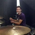 Im Studio (von Romin Katzer) bei den Aufnahmen für das Album NÀU mit dem Florian Peters Trio