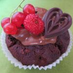 Gewähren wir einen Ausschnitt aus dem süßen Sortiment: Schoko-Muffins
