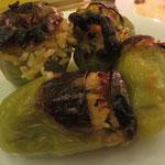 Sonderoption nur für uns auf Vorbestellung: Grüne Paprika, gefüllt mit Reis