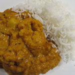 Aloo Gobi Masala (Kartoffeln, Blumenkohl, Zwiebeln, Tomaten, Knoblauch)