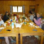Ein üppiges Frühstück als krönender Abschluss eines rundum gelungenen gemeinsamen Wochenendes!