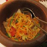 Geheimtipp nicht auf der Karte: Grüner Papaya-Salat vegan