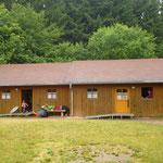 Zwei Tage und zwei Nächte nahmen wir diese zwei miteinander verbundenen Hütten für uns ein.