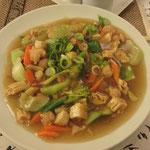 Ladnah (mit Tofu/Tempeg statt Hähnchen und verschiedenen Gemüsen)
