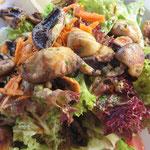 Und hier unsere Essensgalerie: Ensalada Championes