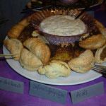 Olive-Nuss-Ravioli + Süßkartoffelpuffer + Aioli