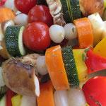 kunterbunte Gemüsespieße
