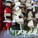 gar nicht spießig: Gemüsespieße