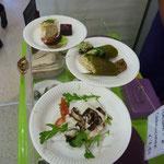 Rohköstliche herzhafte Mahlzeiten