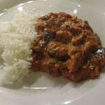 Channa Masala (Kichererbsen, Kartoffeln, Zwiebeln, Ingwer, Knoblauch, Curry-Sauce)