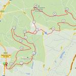 Unsere Vanderroute (16.5 km in knapp 3 Stunden Gehzeit)