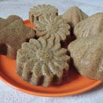 als Blümchen und Muscheln getarnt: Orange Pudding Cupcakes