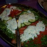 Gemüseplatte mit Soße
