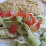 Brsin (rote Linsen mit Tomatenwürfeln und milden Peperoni)