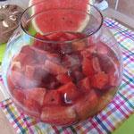 Melonen-Kirschen-Bowle alkoholfrei