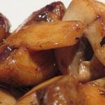 Nr. 63 Yaki Mushrooms (gegrillte Champignons, mit Öl statt Butter)
