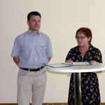 Bürgermeisterin M. Schäfer-Blake und Sozialreferent R. Scheller begrüßten die Gäste