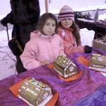 Der Spielgarten Heuchelhof bot Plätzchen, Lebkuchen und Lebkuchen-Häuschen an
