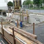 Ende August 2010 beginnen die Betonarbeiten