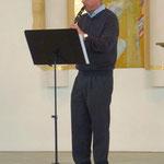 Matthias Ernst mit seiner Klarinette