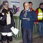 Stellv. Vorsitzender des BV Heuchelhofs H. Wördehoff erläutert in seiner Rede nochmals die Vorteile des Tunnels gegenüber dem Trog