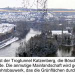 Blick von der Festung auf die südlichen Stadtteile Sanderau, Heidingsfeld und Heuchelhof