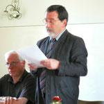 Die Laudatio hielt Herr Egon Kitz
