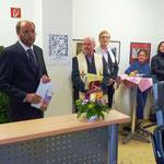 Der Geschäftsführer der ARCHE begrüßt die Gäste und wies in seiner Ansprache auf den heutigen enormen bürokratischen Aufwand hin