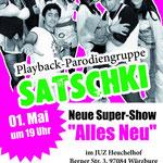 Plakat über die Veranstaltung am 1. Mai im Jugendzentrum