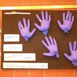 """Motiv: """"Blaue Hände"""""""