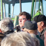 In der Lindflurer Str. begrüßte Bürgermeister Dr. Bauer im Namen der Stadt die Wanderfreunde