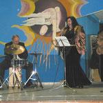 Das Musik-Duo Daniela Moritz und Hermann Bettinger trugen 3 Lieder vor