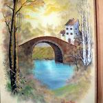 """""""An der Mühle"""" - Öl auf Leinwand, von Johannes Bauer"""