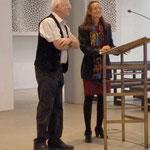 Begrüßungsworte auch von Ch. Kerner vom Bürgerverein und dem Organisator der Ausstellung Ernst-Martin Eras