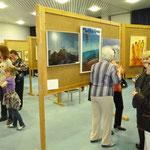 Der Ausstellungsraum, der Gemeinderaum von Gethsemane