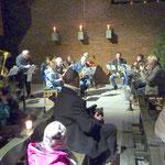 Die Bläser von St. Sebastian spielten weihnachtliche Melodien