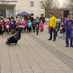 Die drei Tänzer kamen vom Jugendzentrum Heuchelhof