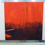 Abstraktes Gemälde von Rolf Wegemann