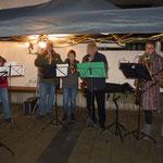 """Das Bläserquintett St. Sebastian eröffnete die Feier mit """"Winterwunderland"""""""