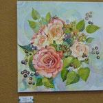 Blumenstrauß, Aquarell auf Leinwand von Elena Stein