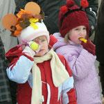 Auch diese beiden Kinder waren schön kostümiert