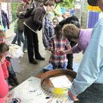 """Für die Kleinen hatte der """"Integrative Kindergarten Vogelshof"""" einen Stand aufgebaut"""