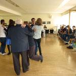 Frederike und Klaus Hofmann spielten Lieder zum Tanzen und Mitsingen, an dem Jung und Alt Freude hatten