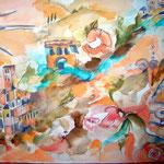 """""""Stadt in der Toskana"""" von Olga Dernbach"""