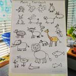 Schautafel mit Tricks und Tipps, wie man Tiere  zeichnen kann